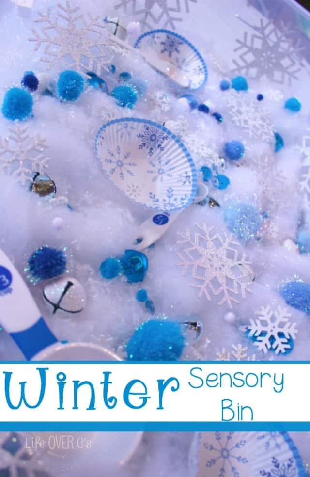 Snowflake Sensory Bin for Learning and Fun