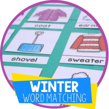3-Part Cards for Winter Word Work Featured Image