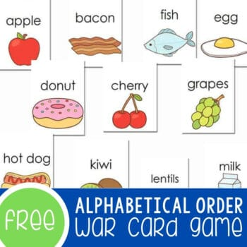 Alphabetical Order _War_ Card Game Featured Square Image