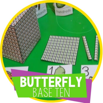 Base Ten Manipulatives Butterfly Life Cycle Featured Image