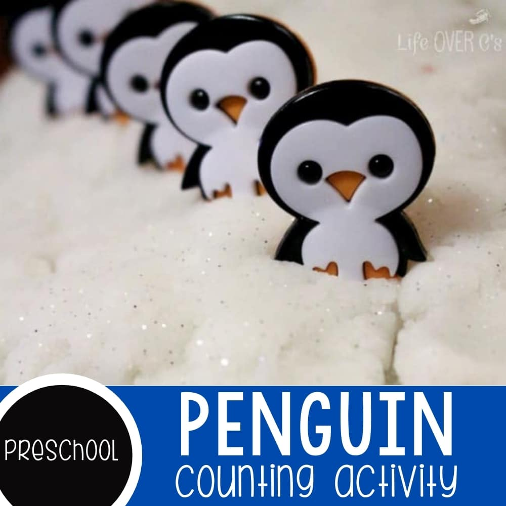 Counting to 5 with Penguins for preschoolers