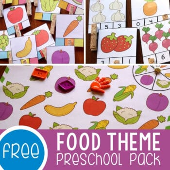 Food Games and Activities Free Printables for Preschoolers Featured Square Image