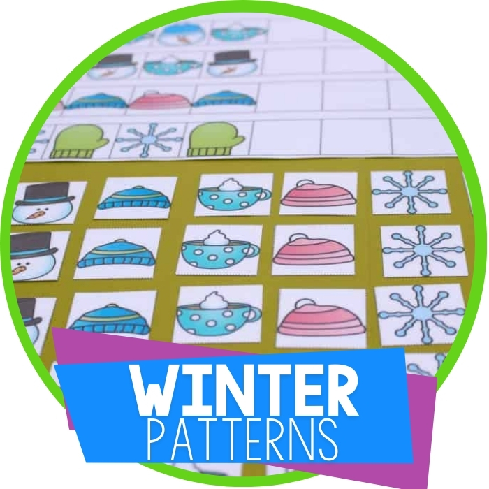 Free Winter Printable Pattern Mats for Kindergarten Featured Image