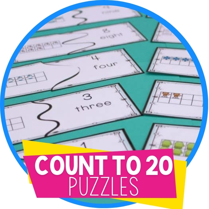 Free Winter Printable Puzzles for Counting to 20