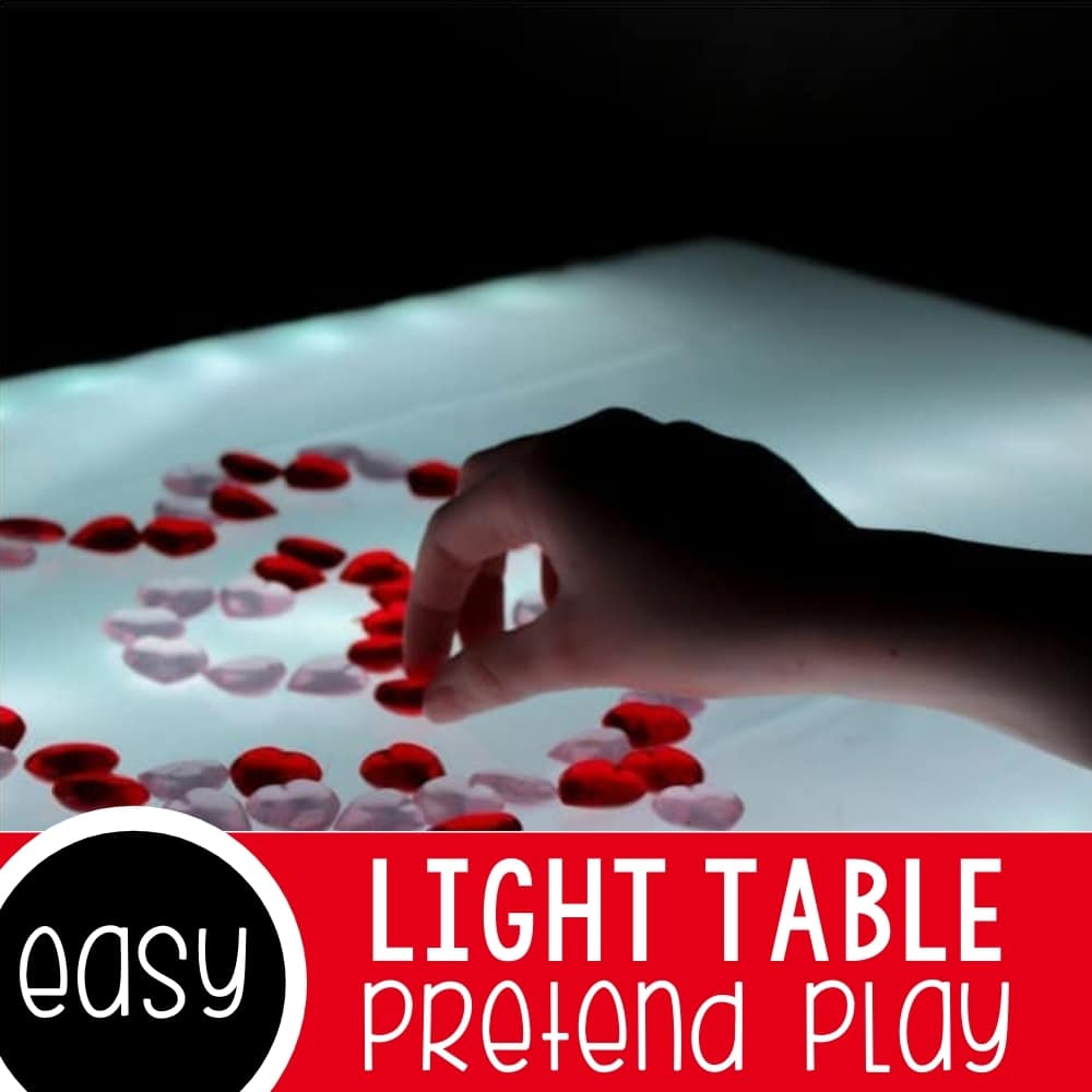 Light Table Play in a Fort