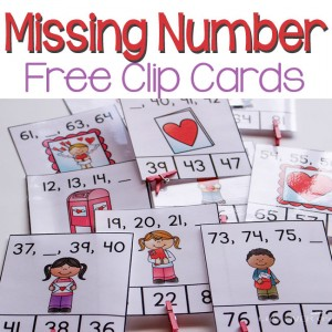 This missing number free printable for Valentine's Day is a fun, hands-on way to review two-digit numbers! Your first graders will love it!