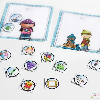 These free word work printable blends sorting mats are simply adorable! I love how the kids can match the blends to the different winter pictures!