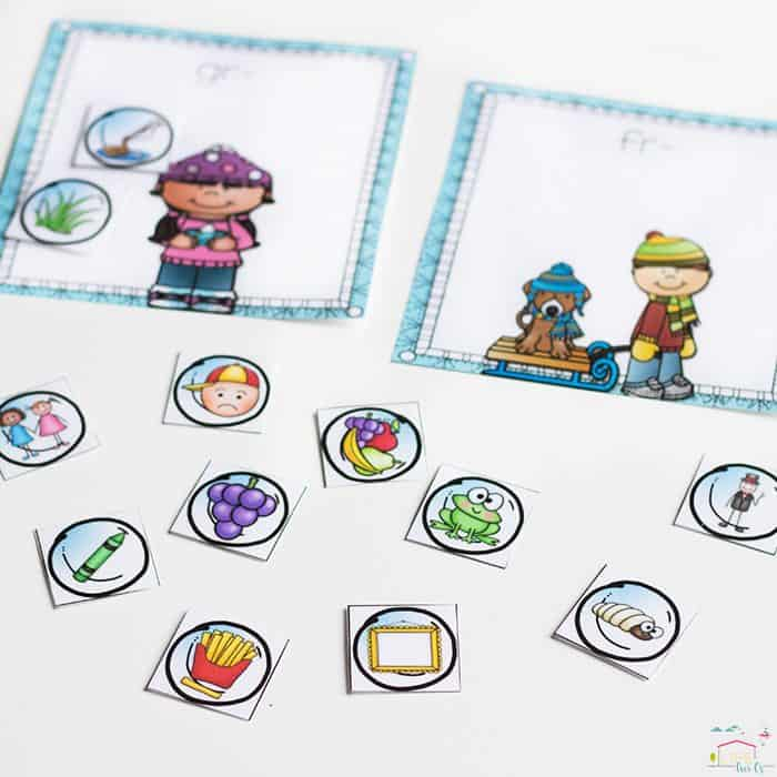 printable blends sorting mat