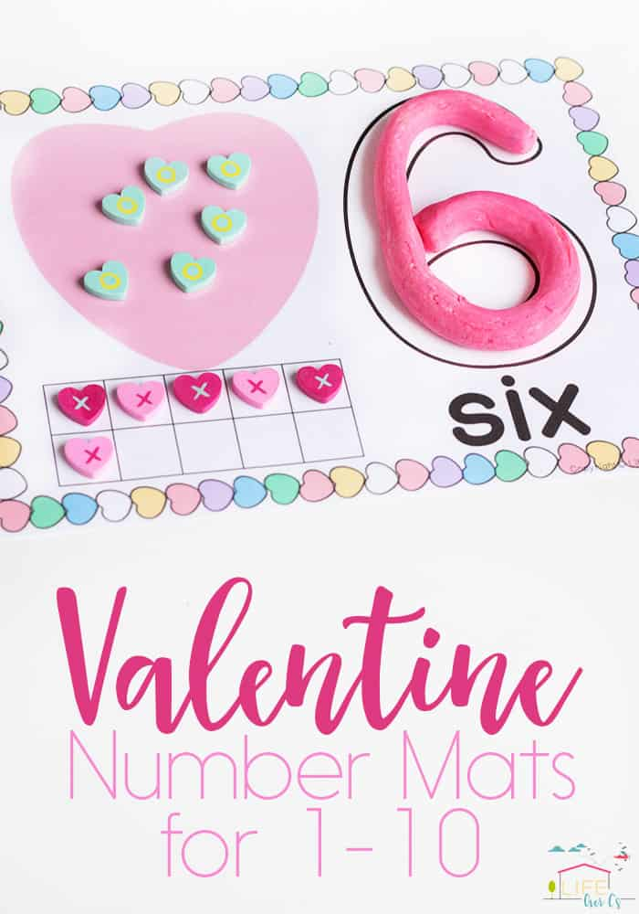 Free Printable Valentine Number Mats 1-10