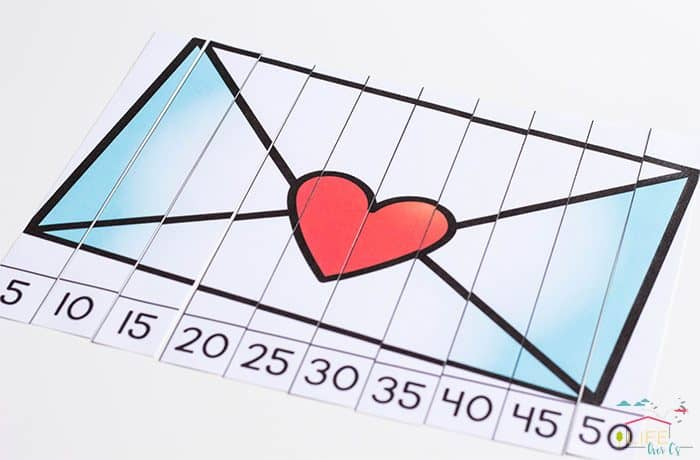 Valentine count by 5s puzzles