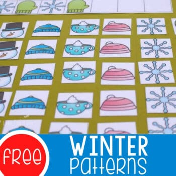 Winter Printable Pattern Mats for Kindergarten Featured Square Image