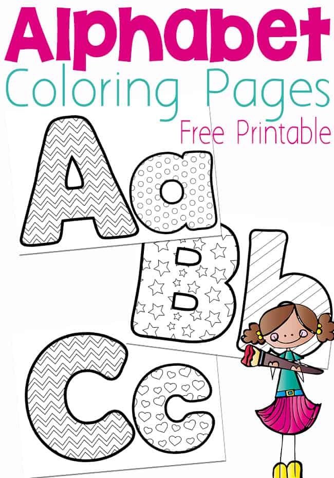 Free printable alphabet coloring pages. Black and white coloring pages for letters A, B, and C