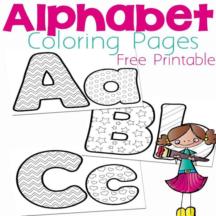These Free Alphabet Coloring Pages Are A Fun Way To Practice The