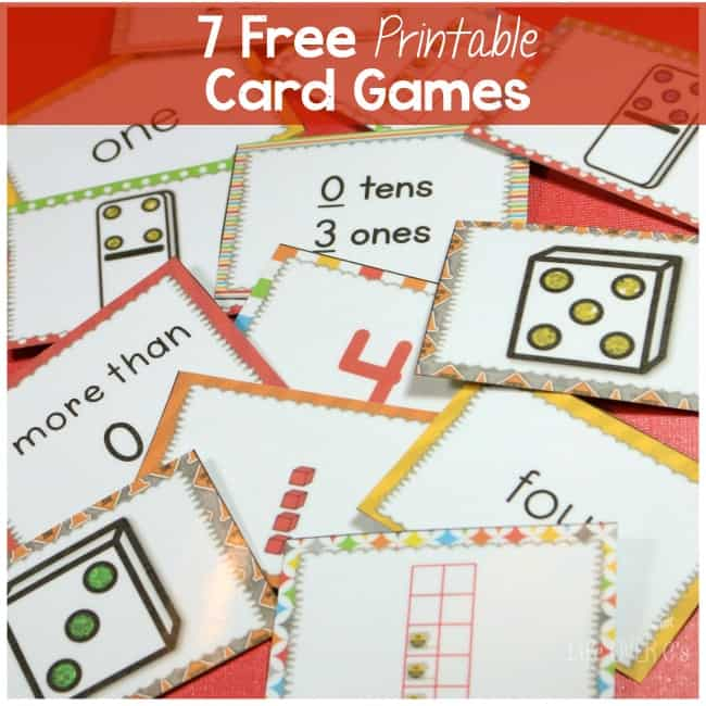 photograph relating to Printable Card Games called 7 Totally free Card Video games for Counting in direction of 5 and A great deal Excess!