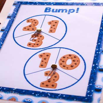 Free printable for addition: Cookie Bump!! Such a fun way to practice addition! My daughter cannot get enough of Bump! games!
