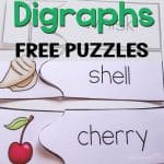 Reviewing phonics is lots of fun with these free printable puzzles for digraphs! Super easy prep too!