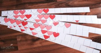 This heart pattern free printable for Valentine's Day is such a fun way to practice patterns!