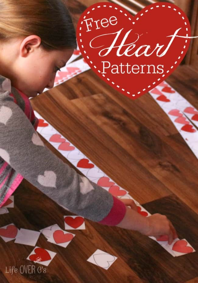 This fun heart pattern printable for Valentine's Day makes practicing patterns so much fun for an older child.