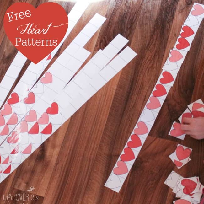Heart Pattern Free Printable for Valentine's Day