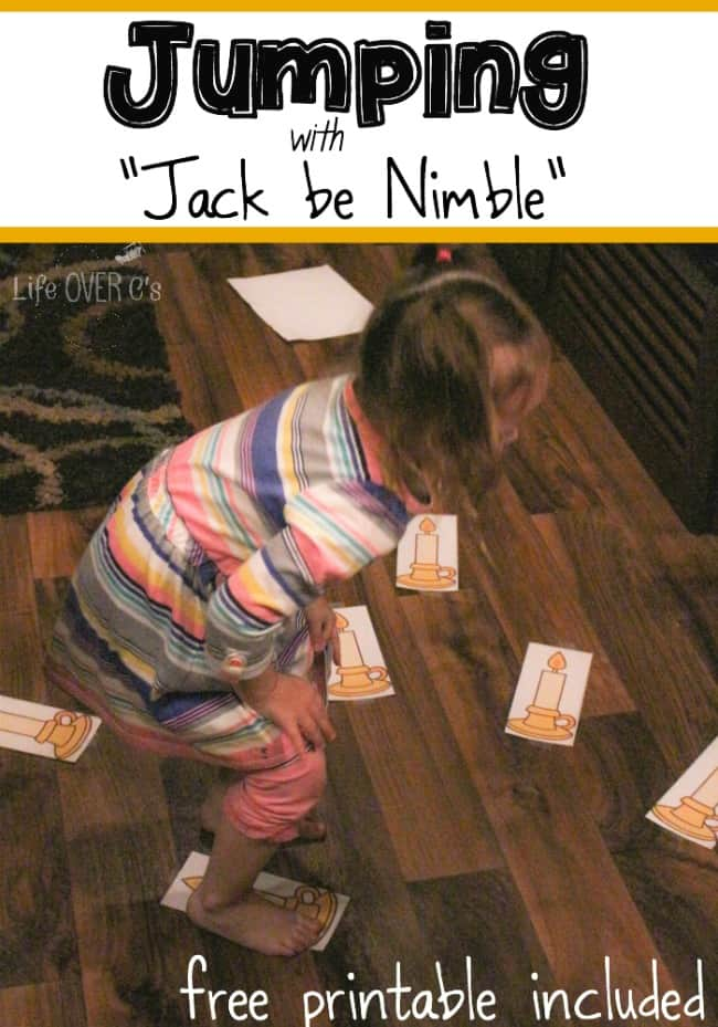 Jumping with Jack Be Nimble Nursery Rhyme Gross Motor Activity