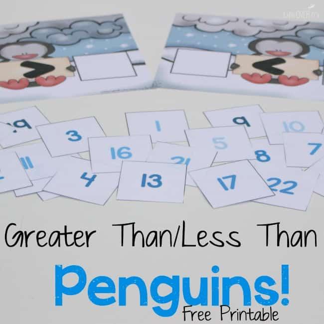 kindergarten penguin math printable