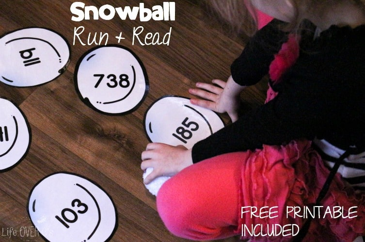 snowball gross motor printable
