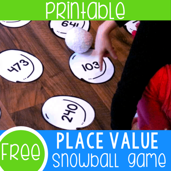 Free printable place value activity for first grade. Practice reading numbers to 999 with these fun place value snowballs.