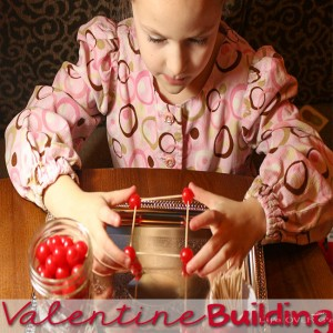 Building with candy is such a fun Valentine's Day STEM activity! Get some candy & toothpicks and get ready to have a blast!