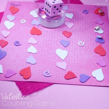 Create your own DIY Valentine's Day Game Board to practice counting! So much fun for your preschoolers and kindergarteners!