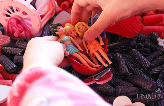 sensory play with dolls