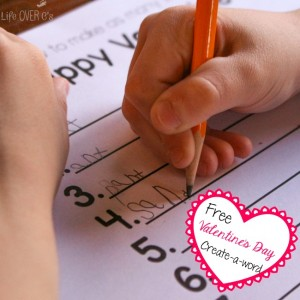 This free printable Valentine's Day Create-a-Word is a super fun way to get your kids spelling on their own!