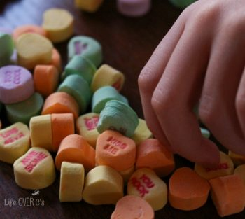 These free printable Valentine's Day Number mats for 11-20 are a perfect way to use up the candy!