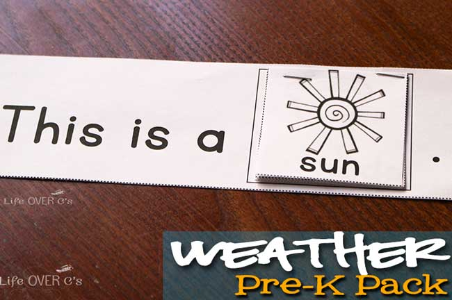 weather sentence strip
