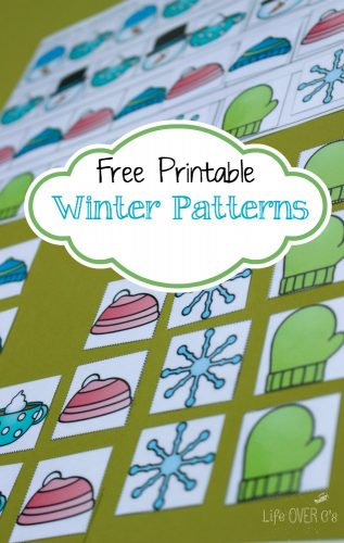 These free winter pattern mats for kindergarten give great practice on patterns for pre-k and kindergarteners!