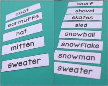 Download these free 3-part cards for winter word work. There are so many things that you can do with them!