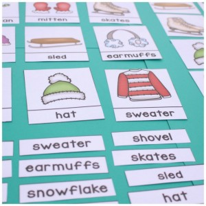 winter word work square