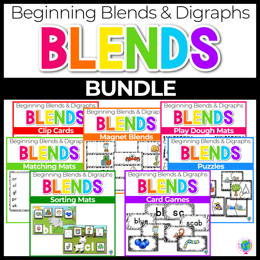 Blends and Digraphs Activity Pack