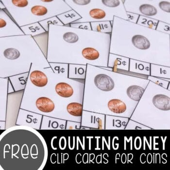 Free Counting Money Clip Cards for Coins Featured Square Image