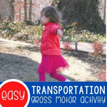 Gross-Motor Transportation Game for Preschoolers Featured Square Image