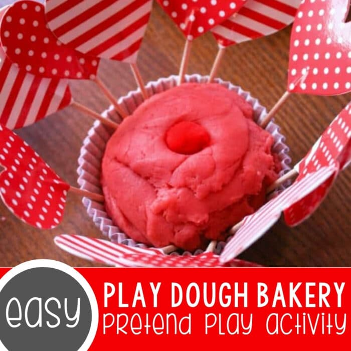 Learning Through Play Dough Bakery Pretend Play Featured Square Image