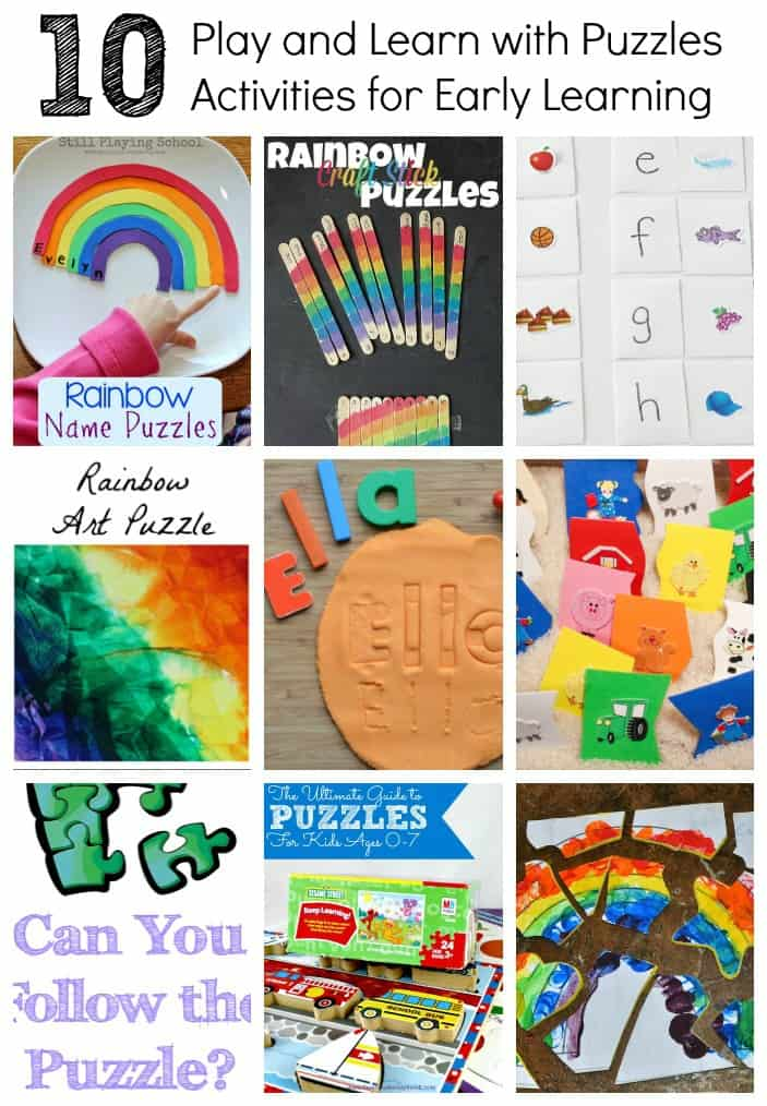So many fun puzzle activities for preschoolers!