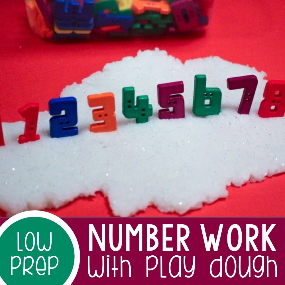 Teaching Numbers with Play Dough Low-Prep Activity