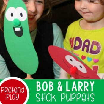 Teaching Preschoolers Kindness with Bob & Larry Stick Puppets Featured Square Image