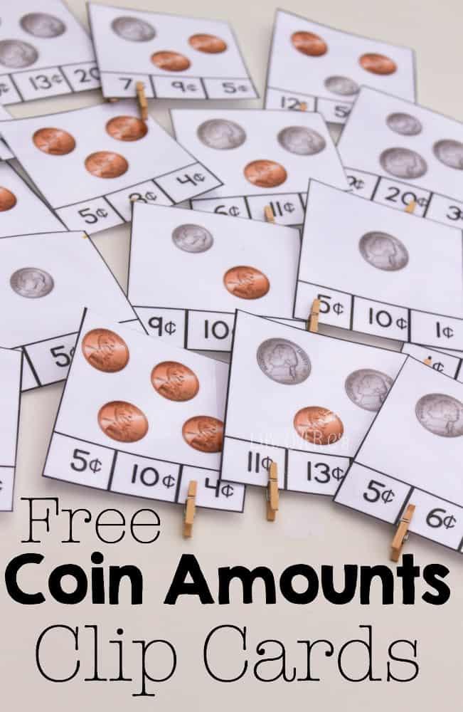 coins clip cards