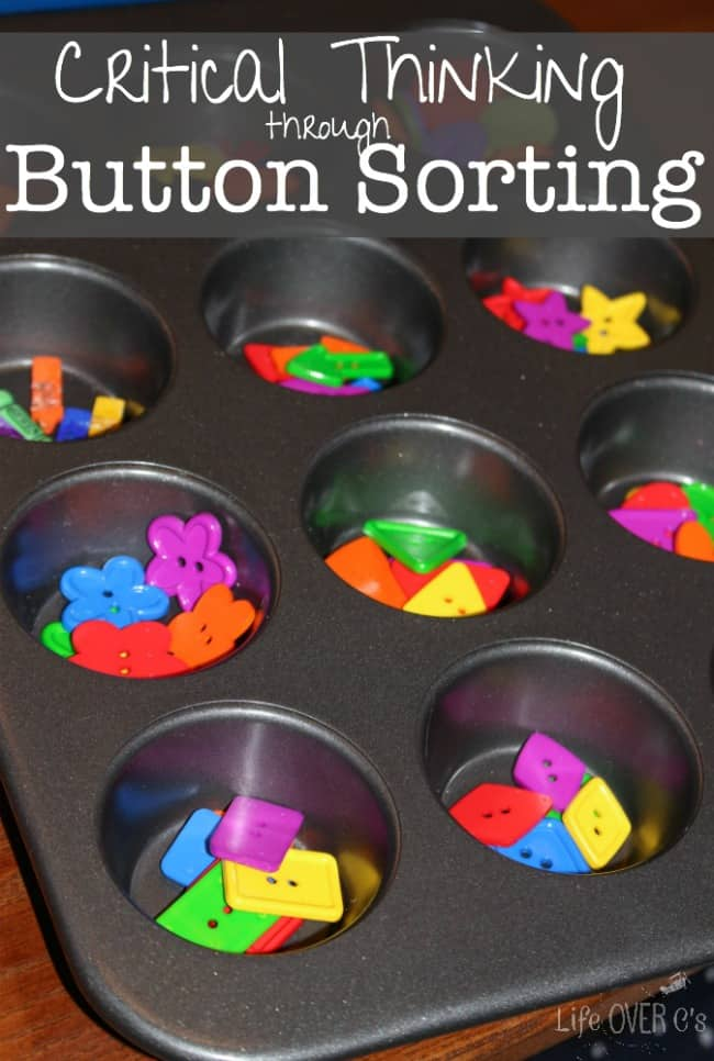 Something as simple as sorting buttons can be great for building critical thinking skills!