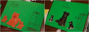 These graphs were are a great child-led learning opportunity inspired by a pack of farm stickers!