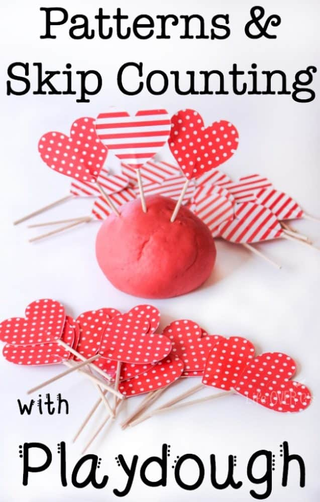 Practicing patterns and skip counting with play dough is so much fun when you add play dough and some super cute manipulatives! This activity really helped my daughter understand what skip counting is!