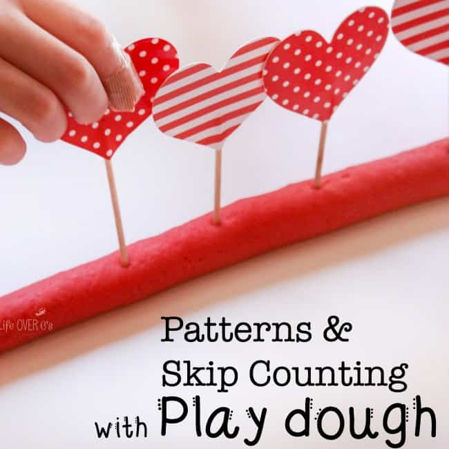 making patterns in play dough