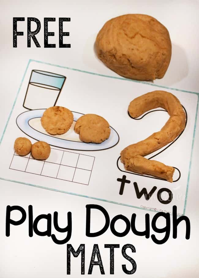 cookie math play dough
