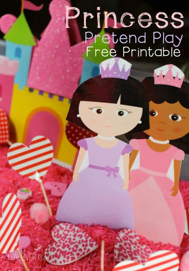 free princess printable set